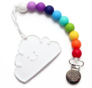 GSC Clip-On Teether - White Cloud