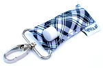 LippyClip - Black & Grey Plaid