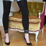 Coobie Leggings with Lace Trim