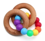 GSC Double Ring Rainbow Teether