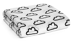 Modern Burlap Organic Cotton Muslin Swaddle - Clouds