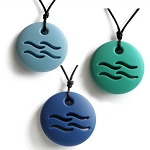 CLEARANCE Zen Rocks Teething Necklace - Water
