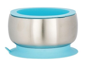 Avanchy Stainless Steel Suction Baby Bowl & Air Tight Lid