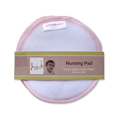 Geffen Baby Hemp/Cotton Fleece Nursing Pads - 3 Pairs
