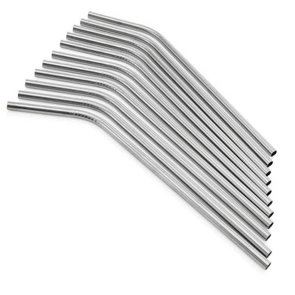 SIC Curved Stainless Steel Straw