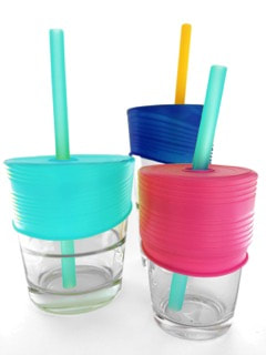 CLEARANCE GoSili Universal Straw Top - Sea/Berry/Cobalt 3-pack