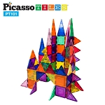 Picasso Tiles 3D Magnetic Building Block Tiles - 101 Piece Set
