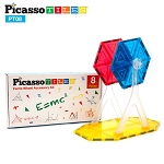 Picasso Tiles 3D Magnetic Tiles 8 Piece Ferris Wheel Expansion Pack