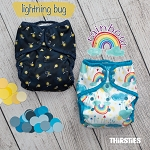 Lightning Bug & Rainbow by Thirsties