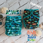 Jaws 2 & Fish Tails by Thirsties - LIMITED EDITION