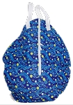 CLEARANCE Starry Night Hanging Wet Bag