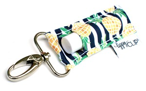 LippyClip - Navy Stripe Pineapples